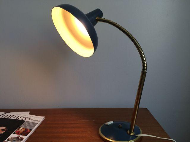 Lampe de bureau vintage Aluminor années 60 épique époque