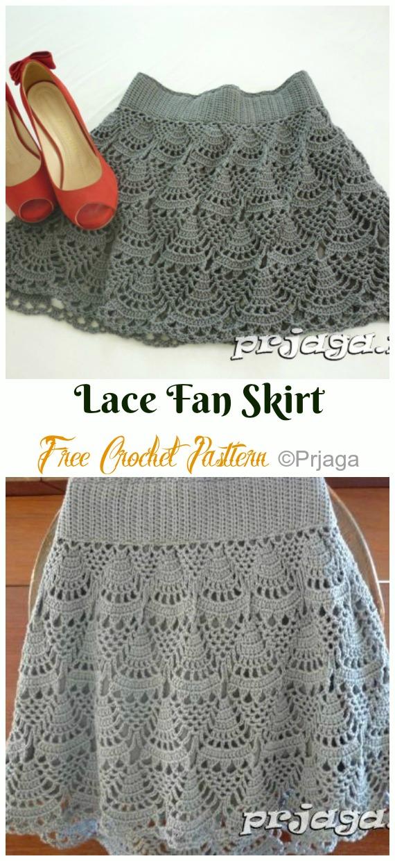 Crochet Women Skirt Free Patterns Instructions #clothpatterns