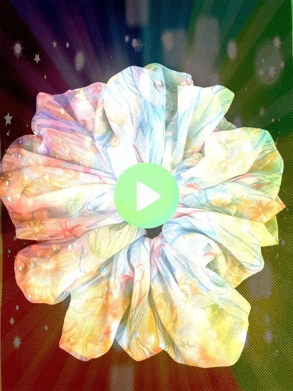 Flowers Jumbo Fabric Scrunchie New Gift Tropical Flowers Jumbo Fabric Scrunchie New Gift  Hey I found this really awesome Etsy listing at   Tropical Flowers Jumbo Fabric...