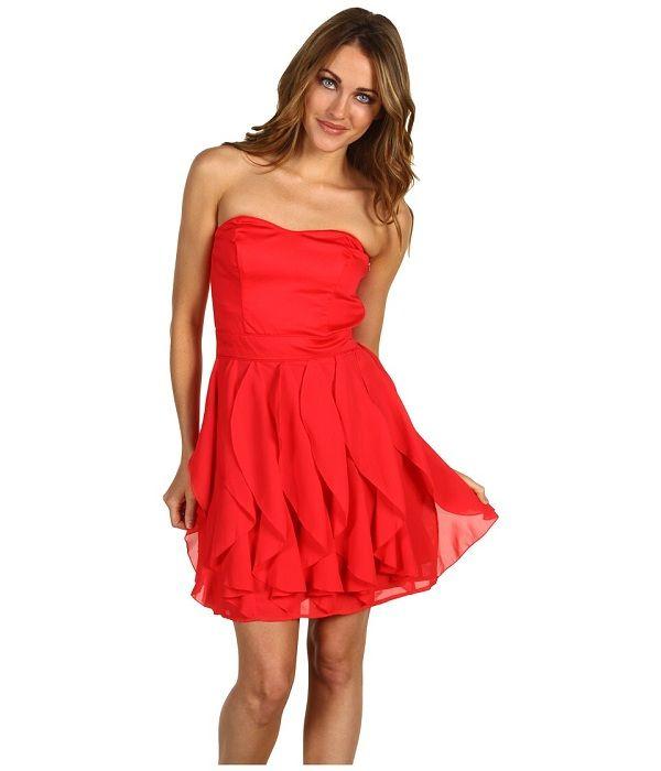 Kirmizi Straplez Kisa Abiye Modelleri 06 Sadekadinlar Com The Dress Aksamustu Giysileri Ve Moda Stilleri