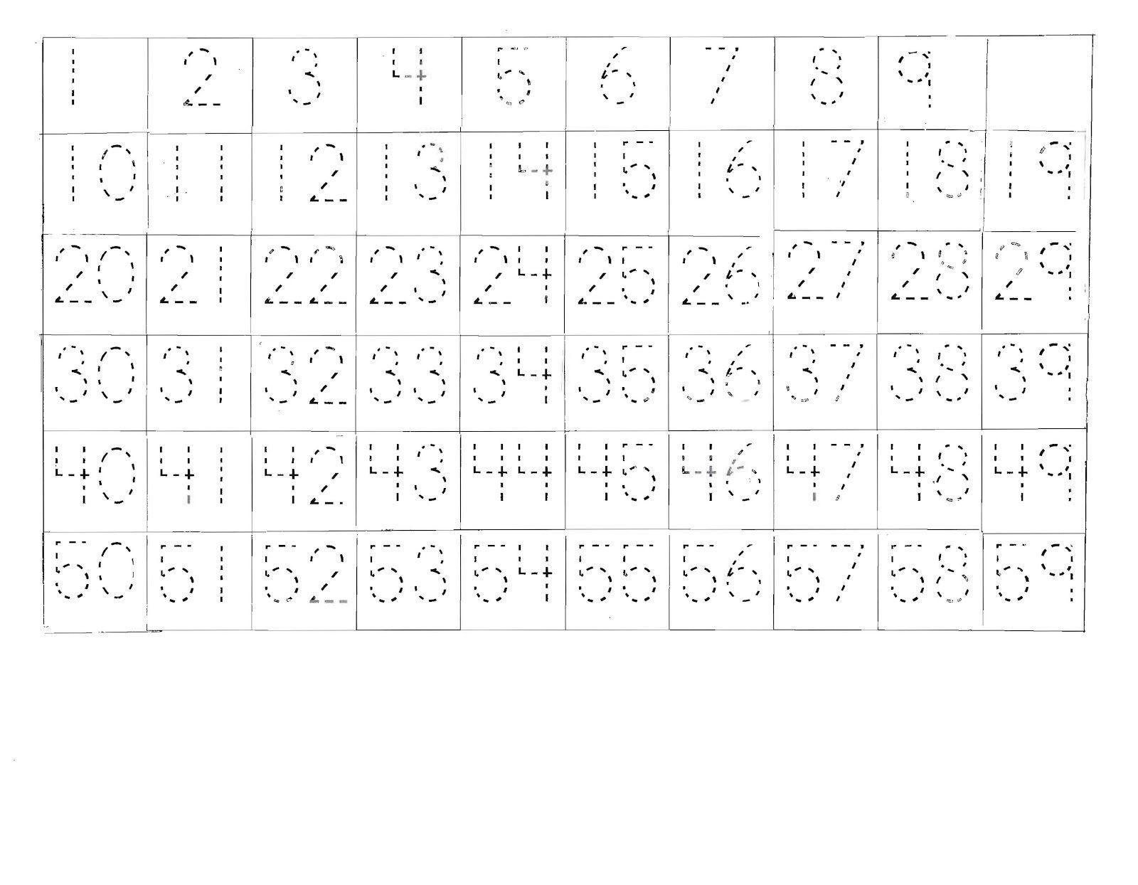 Number Sheet 1-100 to Print | Kids Worksheets Printable ...