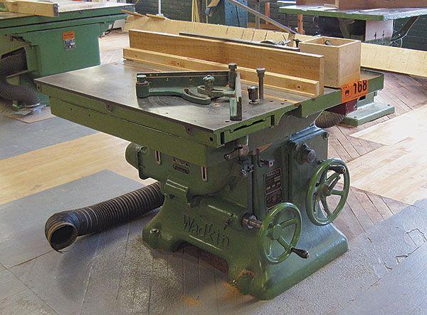 1950s Era Wadkin Pk Tablesaw Before Refurbishing Woodworking