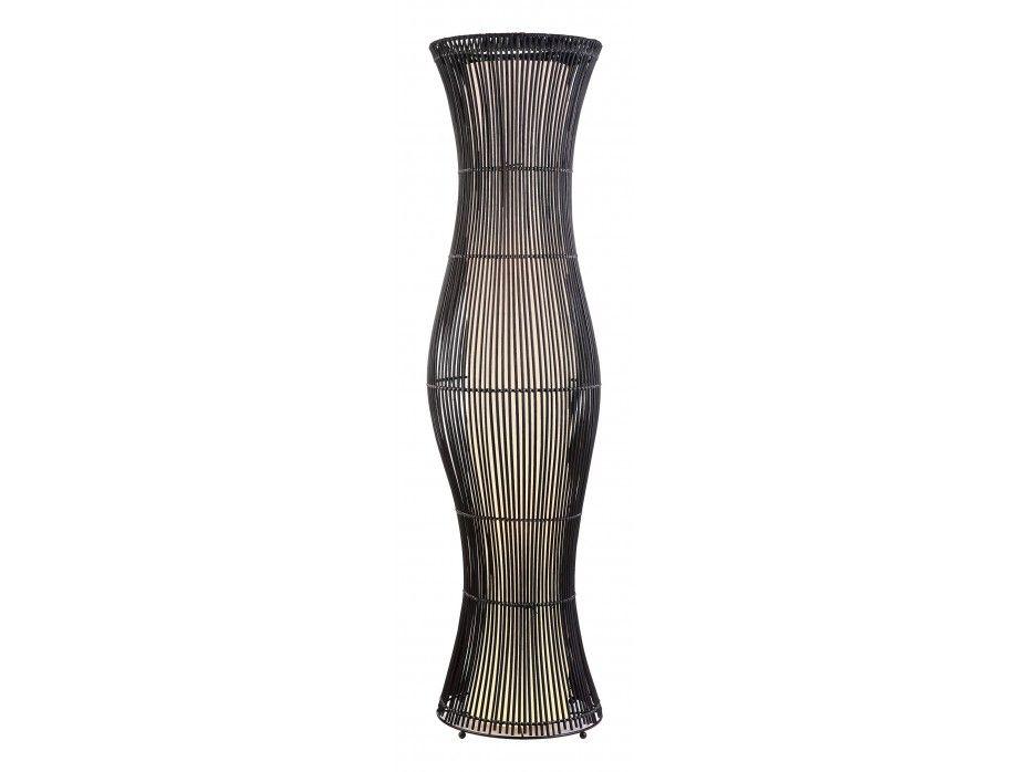 Stehlampe Stehleuchte Bambus Mojave - Höhe: 120,5 cm - Schwarz