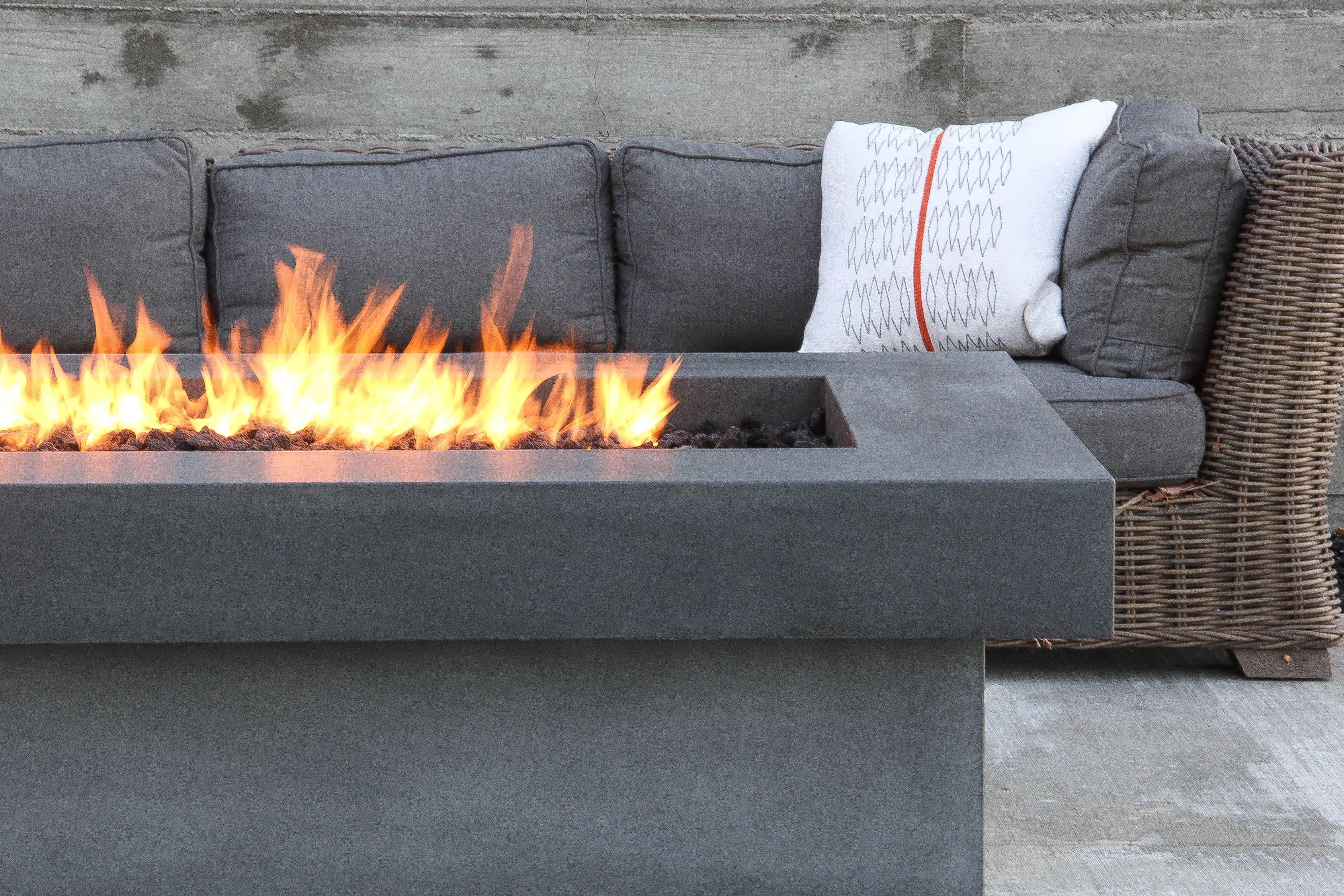 Olson Fire Table Concrete Wave Design Concrete Countertops Fireplaces Patios Furniture Fire Table Concrete Fire Pits Fire Pit