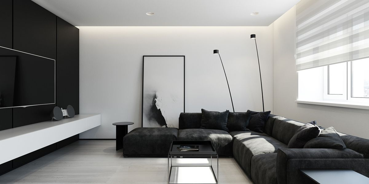 6 magnifiques int rieurs minimalistes noirs et blancs for Interieur noir et blanc