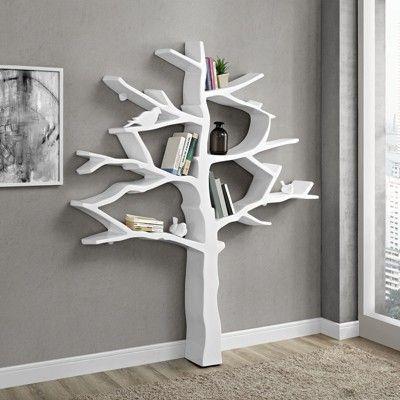 71 Knowledge Bookcase White