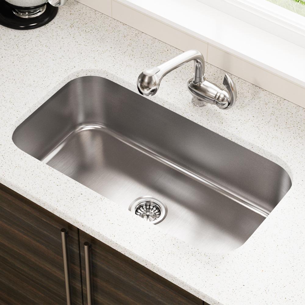 Mr Direct Undermount Stainless Steel 32 In Single Bowl Kitchen