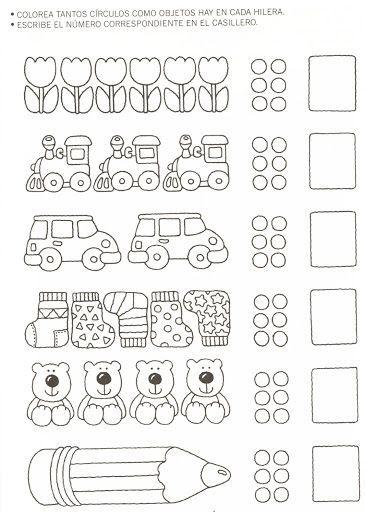 Resultado de imagen para actividades de matematica de for Grado medio jardin de infancia