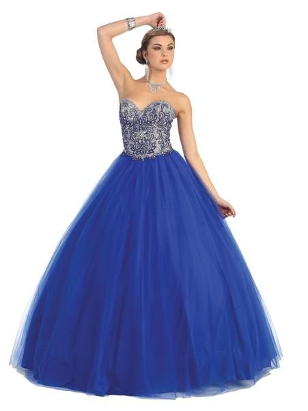 Long Ball Gown Prom Dress Sale - The Dress Outlet - 1