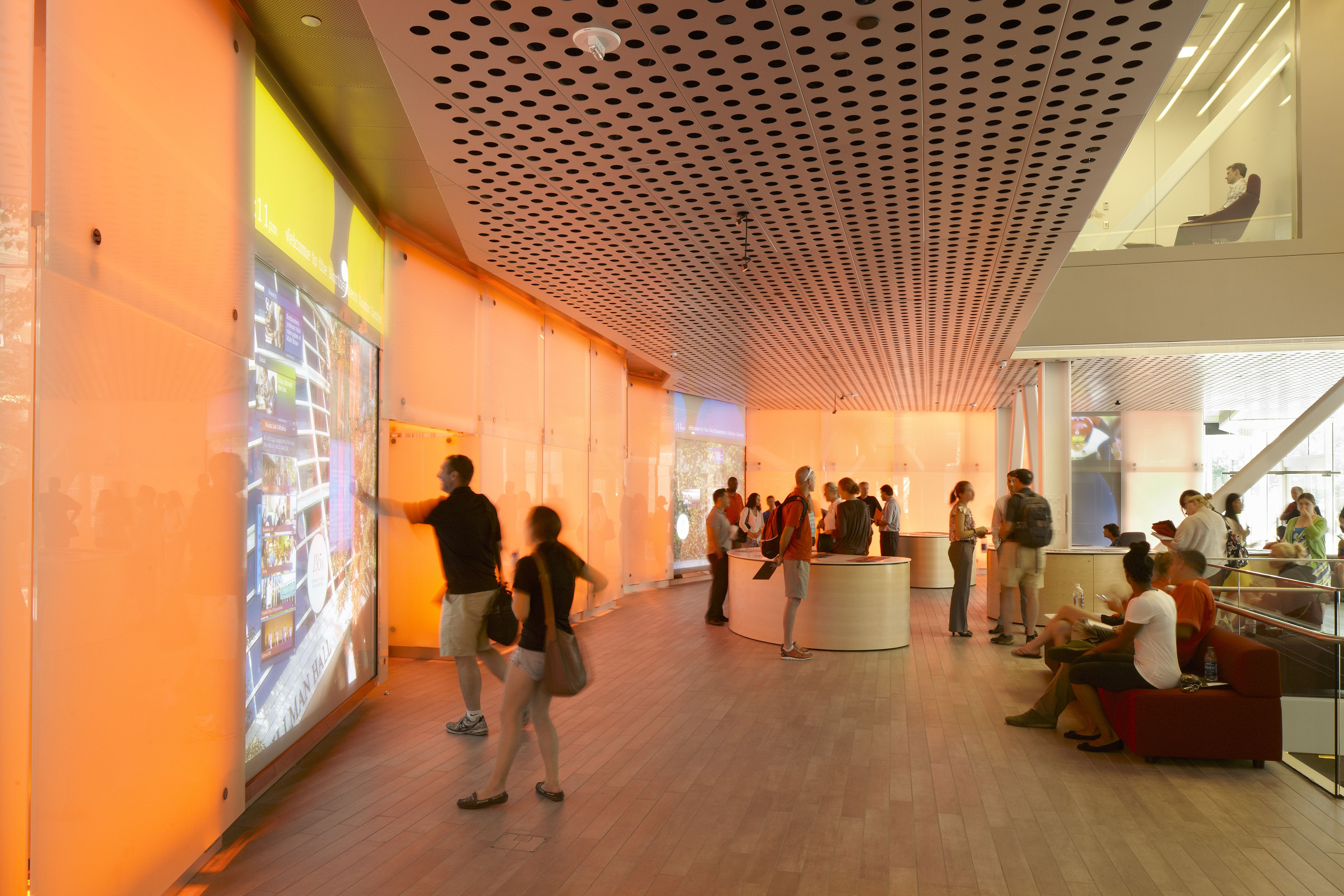 Northeastern University Visitor Center Boston MA Architect William Rawn Associates Architects Interior Lighting DesignDesign