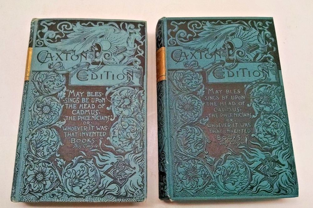 2 Caxton Editions Charles Dickens Our Mutual Friend 1887 Half Hours 1888 Charles Dickens Dickens Edition