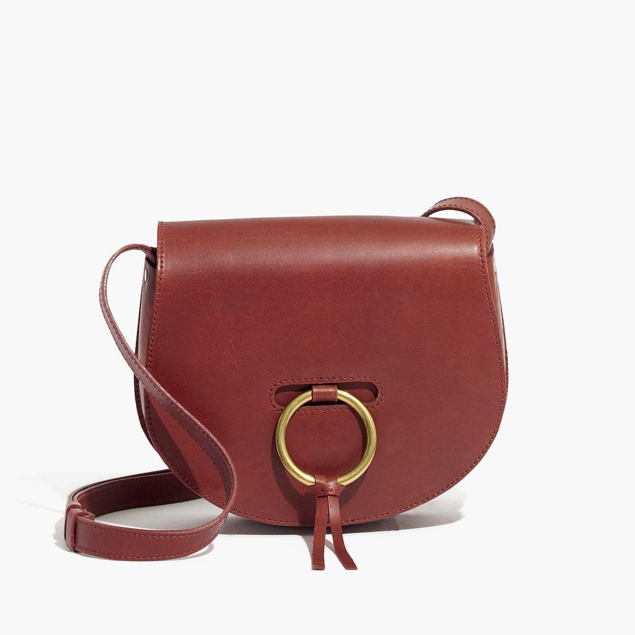 18e5ac84d957 Madewell The Lisbon O-Ring Saddlebag In Leather