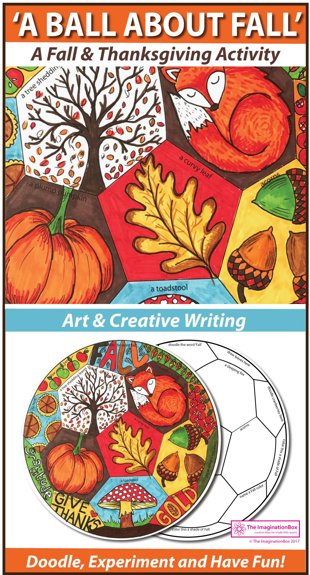 Fall and thanksgiving coloring pages art and writing activity