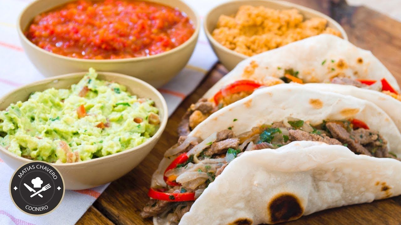 TACOS MEXICANOS + 3 SALSAS PARA ACOMPAÑAR #tacos #salsas