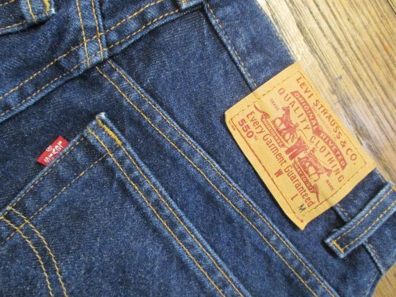 W12MisM 80s High waist Vintage 550 Levis Dark Blue Denim Womens Jeans, 1980s High Waist Vintage Levis Relaxed Fit Tapered Legs Jeans on Etsy, $18.00