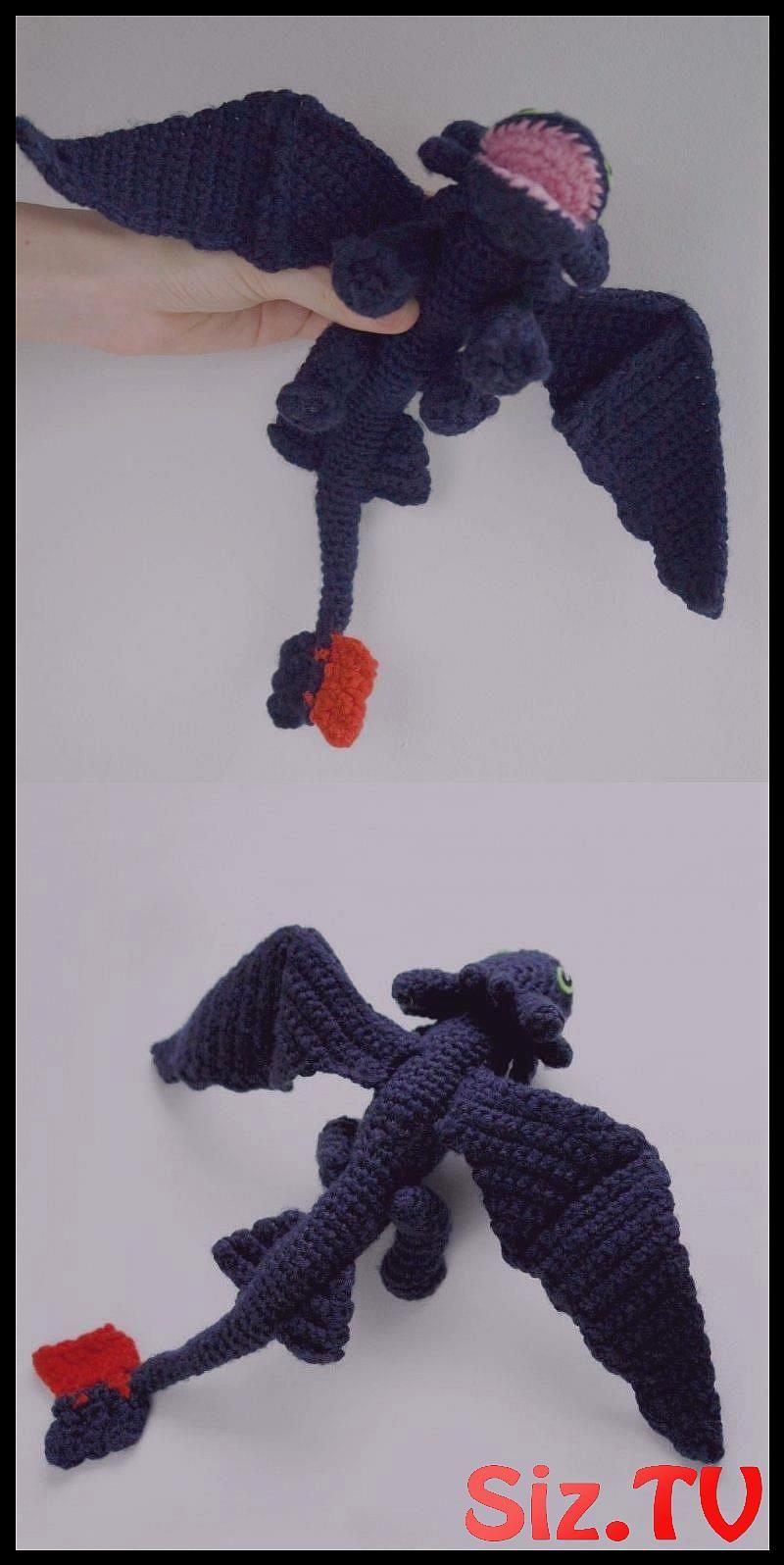 Black dragon Toothless | Crochet dragon pattern, Crochet dragon ... | 1596x800