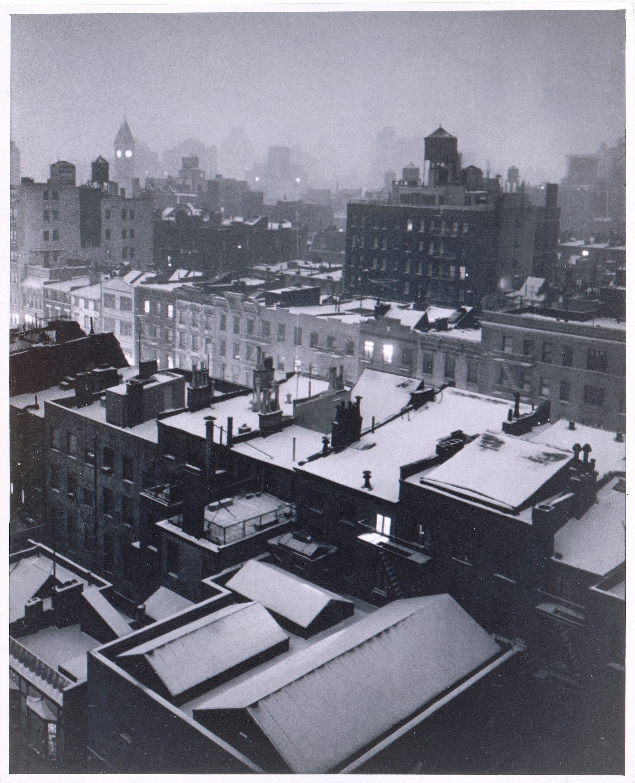 Greenwich Village Rooftops, Evening - 1954