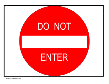 photograph regarding Do Not Enter Sign Printable identified as This printable Do Not Input signal mimics a highway indication. Free of charge towards