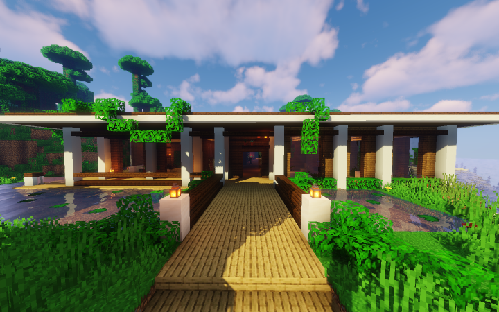 Tropical Modern House Lani 1 14 Minecraft Project In 2020 Minecraft Houses Cool Minecraft Houses Modern House
