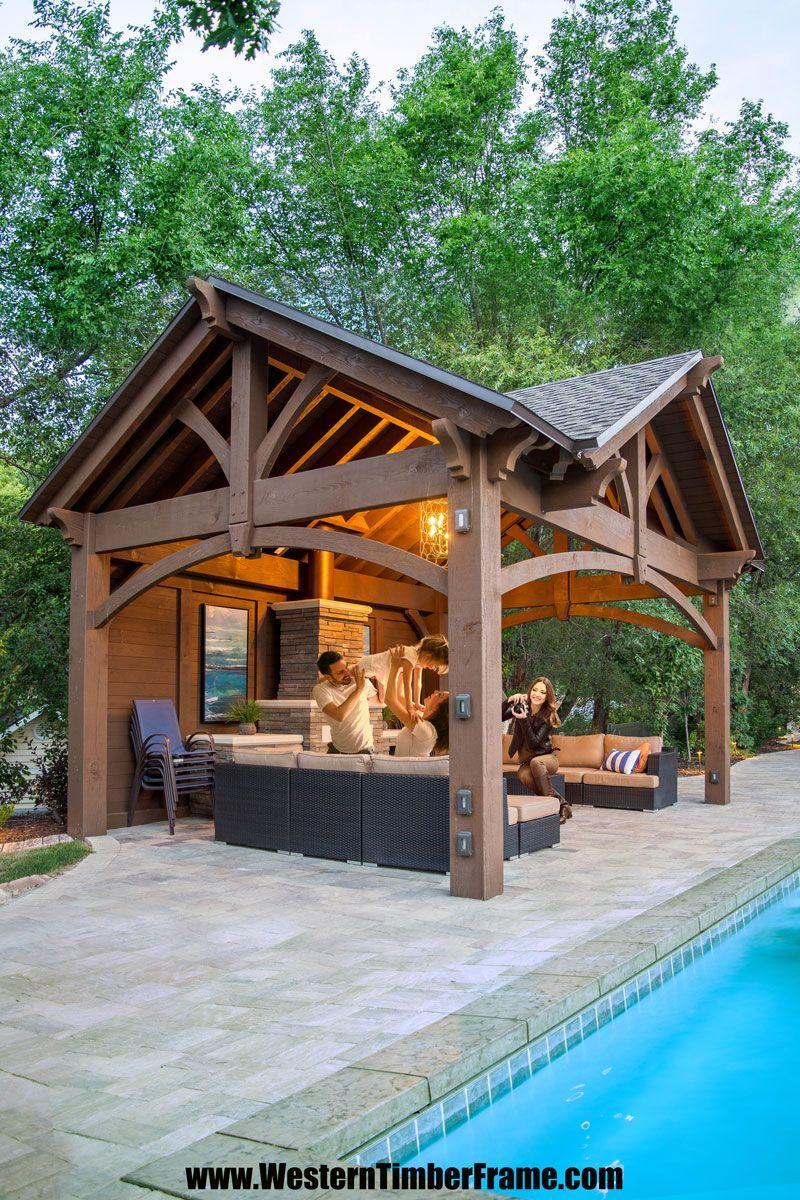 Timbervolt Lighting Electrical Backyard Pavilion Backyard