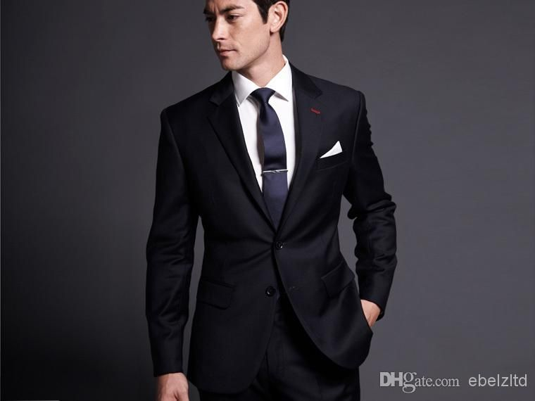Pants S Suppliers Custom Design Two Ons Black Groom Tuxedos Notch Lapel Best Man Groomsmen Men Wedding Suits Bridegroom Jacket Vest Tie