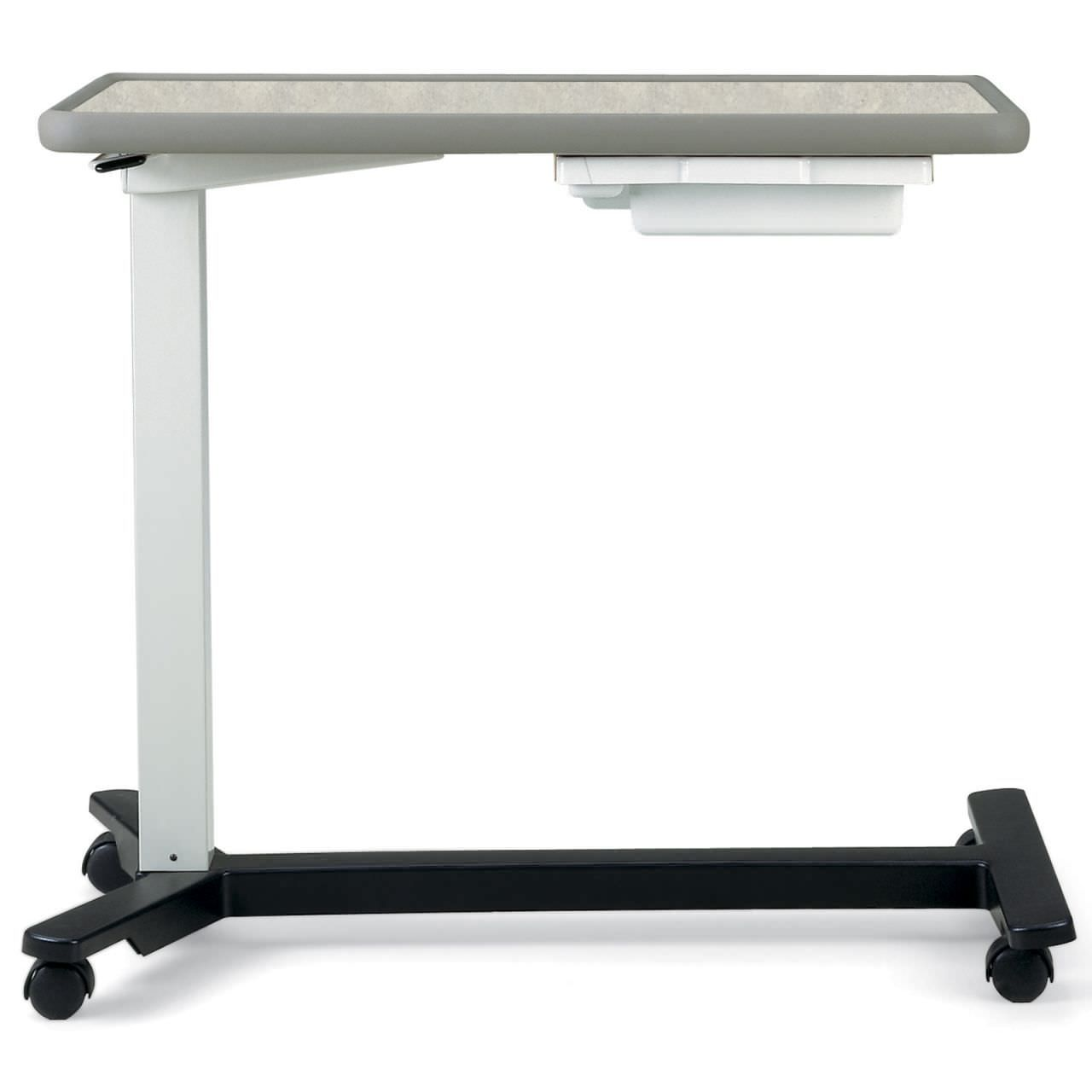 Hospital Overbed Table With Drawer