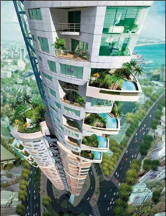 Les grattes ciel du futur design pinterest terre for Piscine entre 2 immeubles