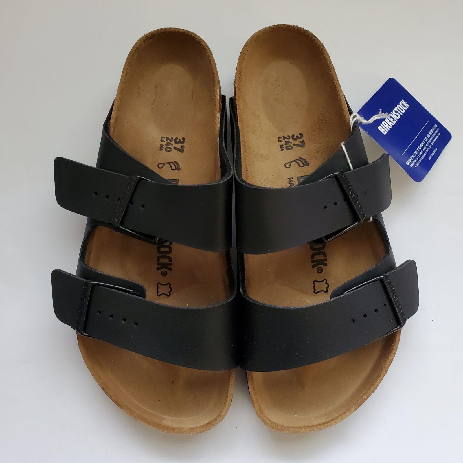New Birkenstock Arizona Black Sandals Size 37 Medium Birkenstock Sandals Black Sandals Birkenstock