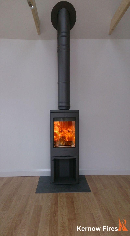 Kernow Fires Contura 750 Wood Burning Stove Installation In Cornwall Burning Contura Co Stove Installation Freestanding Fireplace Wood Burning Stove