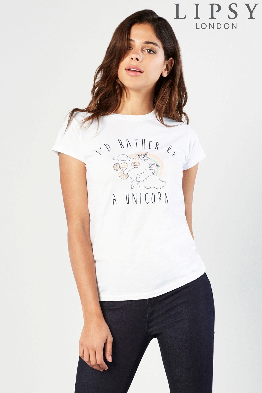 Acheter T-shirt Lipsy à message et licorne en ligne sur Next : France