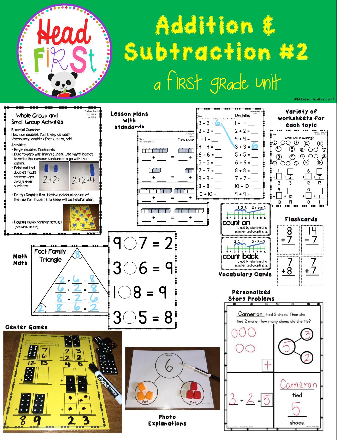 Headfirst 1st Grade Math Curriculum Unit 2 1st Grade Math 1st Grade Math Worksheets Math Curriculum [ 1806 x 1384 Pixel ]