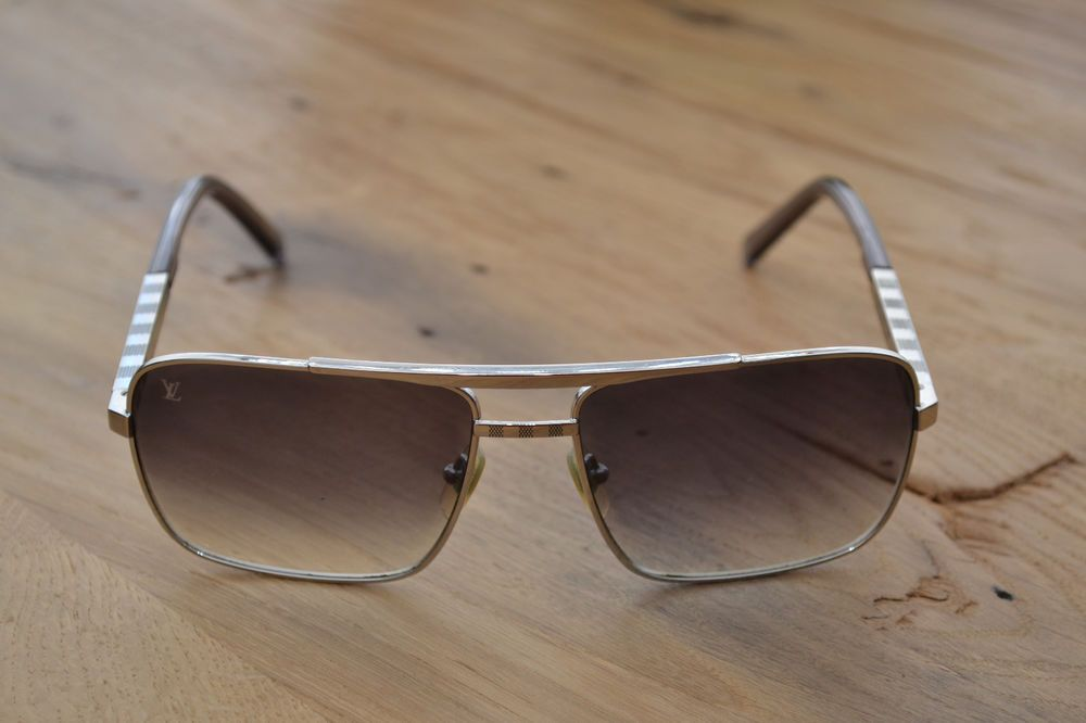 40789d76c5 Mens Louis Vuitton Attitude Sunglasses (Model Z0260U) Authentic - Silver  Damier  LouisVuitton  Rectangular