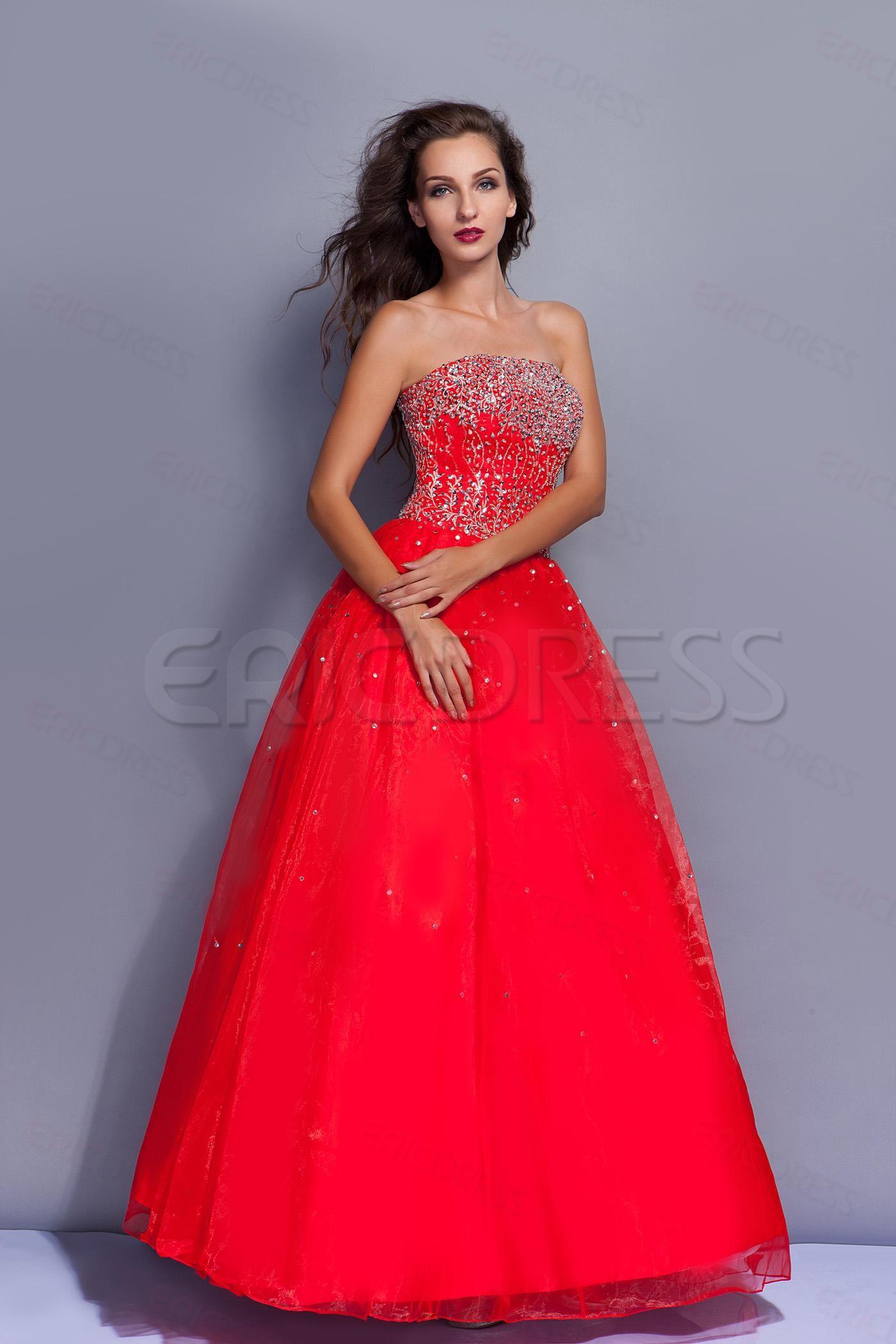 Pretty strapless ball gown floorlength miriamaus quinceanera dress