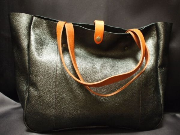 Bag 極厚持ち手calcaldoaハンドメイド本革鞄 TSPトートバッグGM702 インテリア 雑貨 Handmade ¥1800yen 〆05月28日