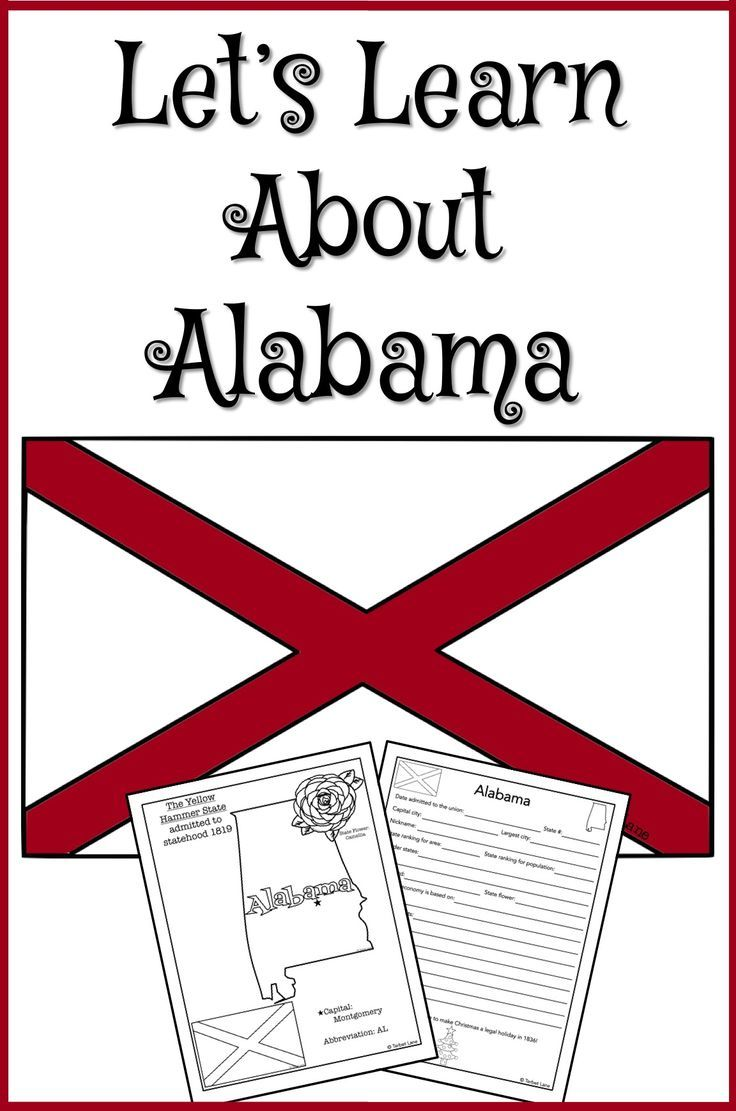 medium resolution of Alabama mini unit study. State symbols coloring page
