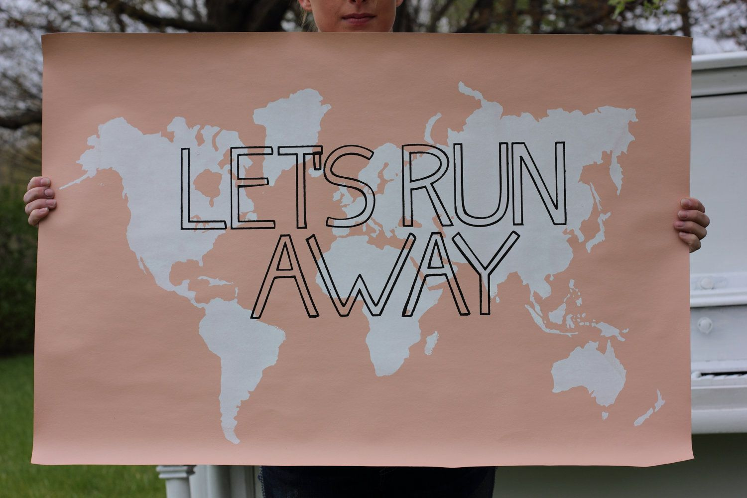 Lets run away giant modern world map print by iscreenyouscreen lets run away giant modern world map print by iscreenyouscreen solutioingenieria Image collections