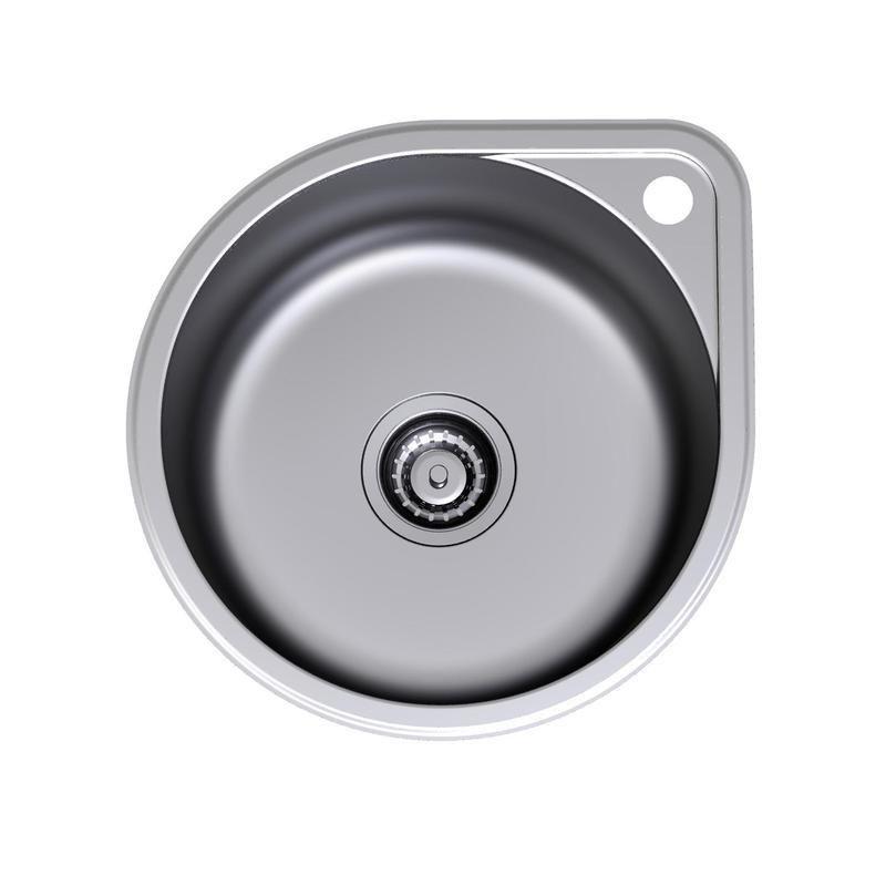 Clark Round Bowl Overmount With Tap Landing Kitchen Sink Taps Sink Taps Sink