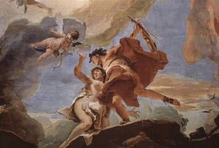 """Giovanni Battista Tiepolo """"Orpheus Rescuing Eurydice from the Underworld (detail of the ceiling)"""""""