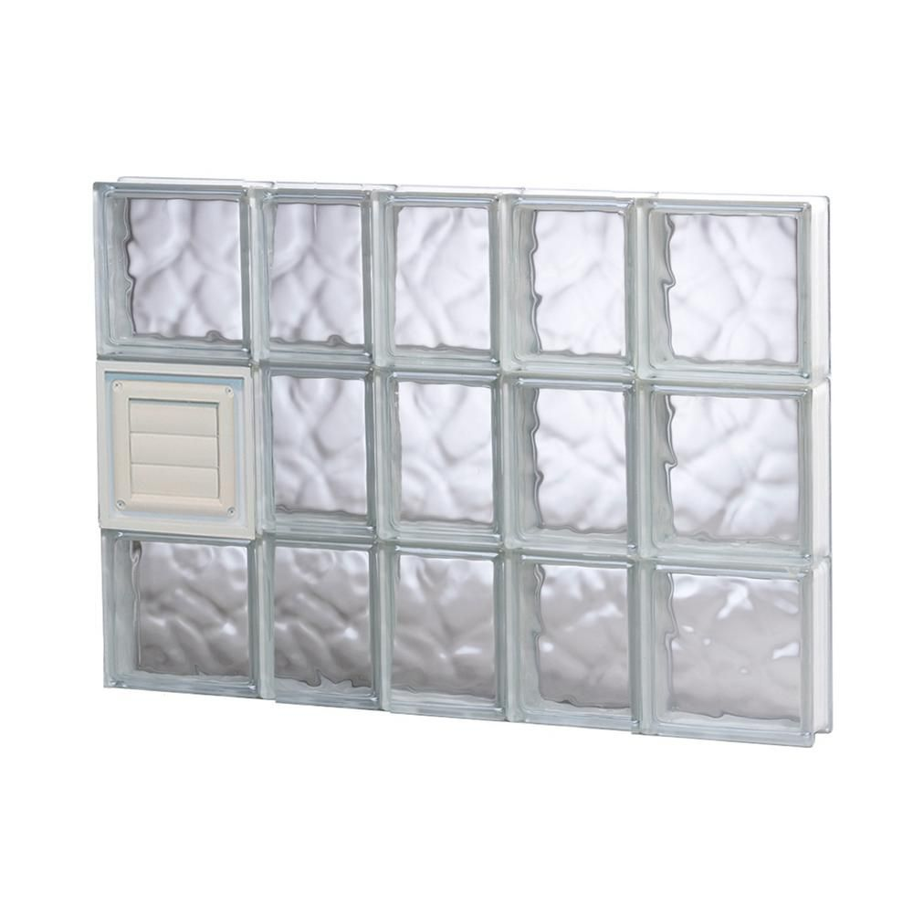 Clearly Secure 31 In X 13 5 In X 3 125 In Frameless Wave