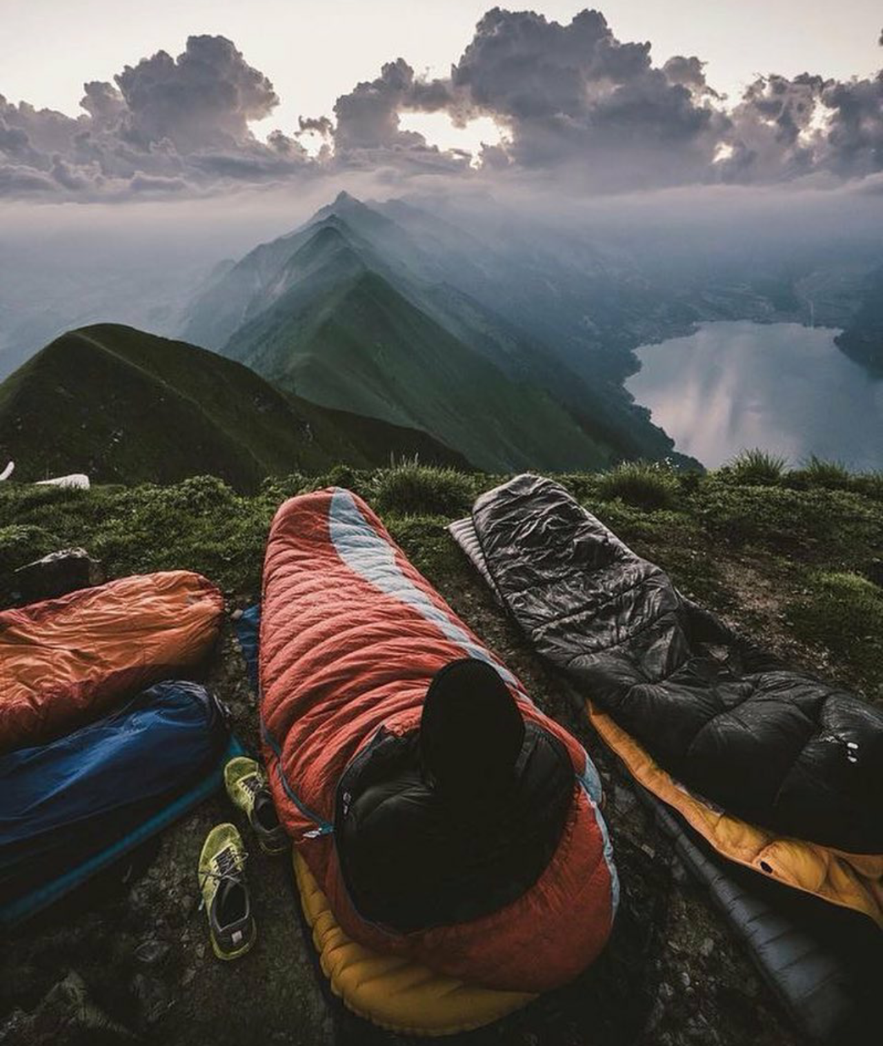Camping mountains sunrise , amazing view, travel nature