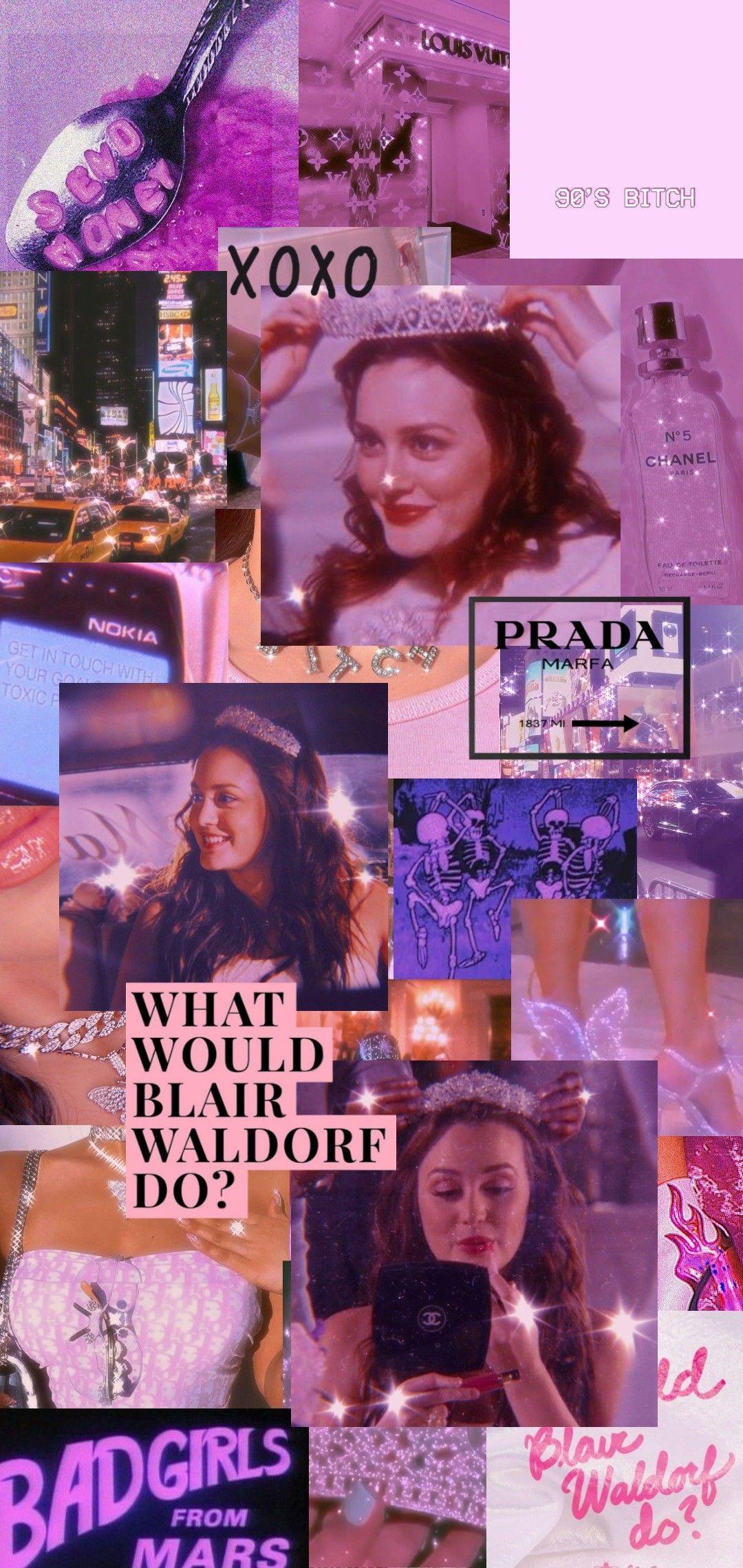 Blair Waldorf wallpaper | Colagem de foto na parede ...