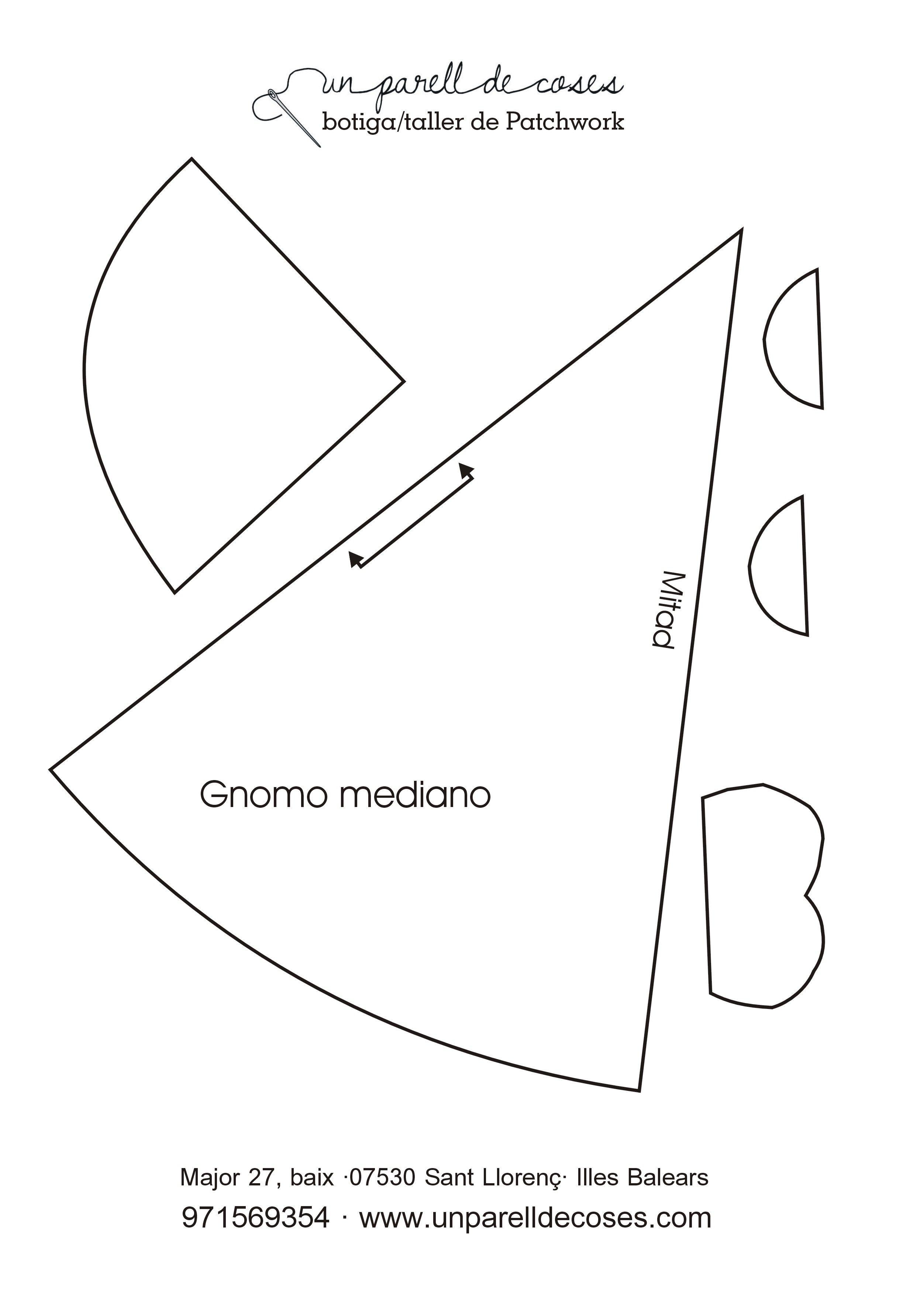 Gnomo mediano 01 | Patrones | Pinterest