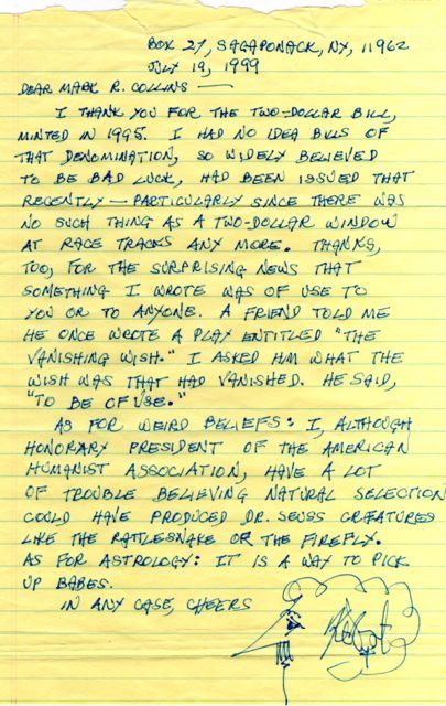 Letter From Kurt Vonnegut Good Thought Word Best Quotes Essays