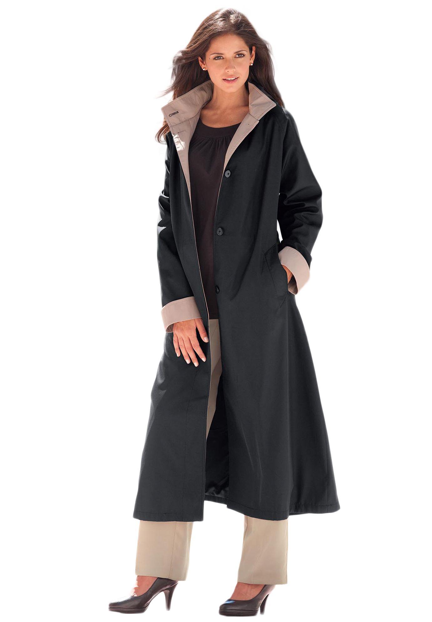 Long Hooded Raincoat | Plus Size Winter Coats | Jessica London ...
