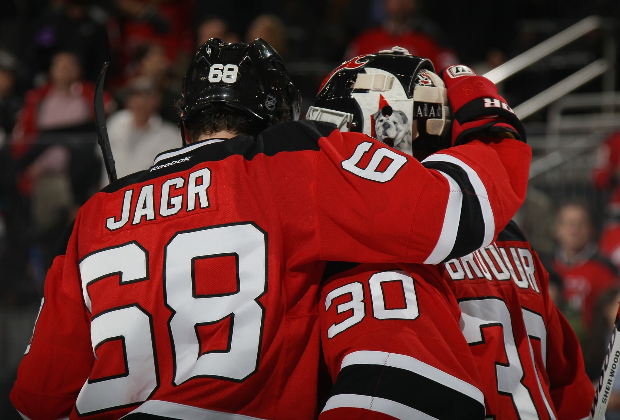 lowest price 1f1a4 0b335 Jaromir Jagr and Martin Brodeur, New Jersey Devils - 2 All ...