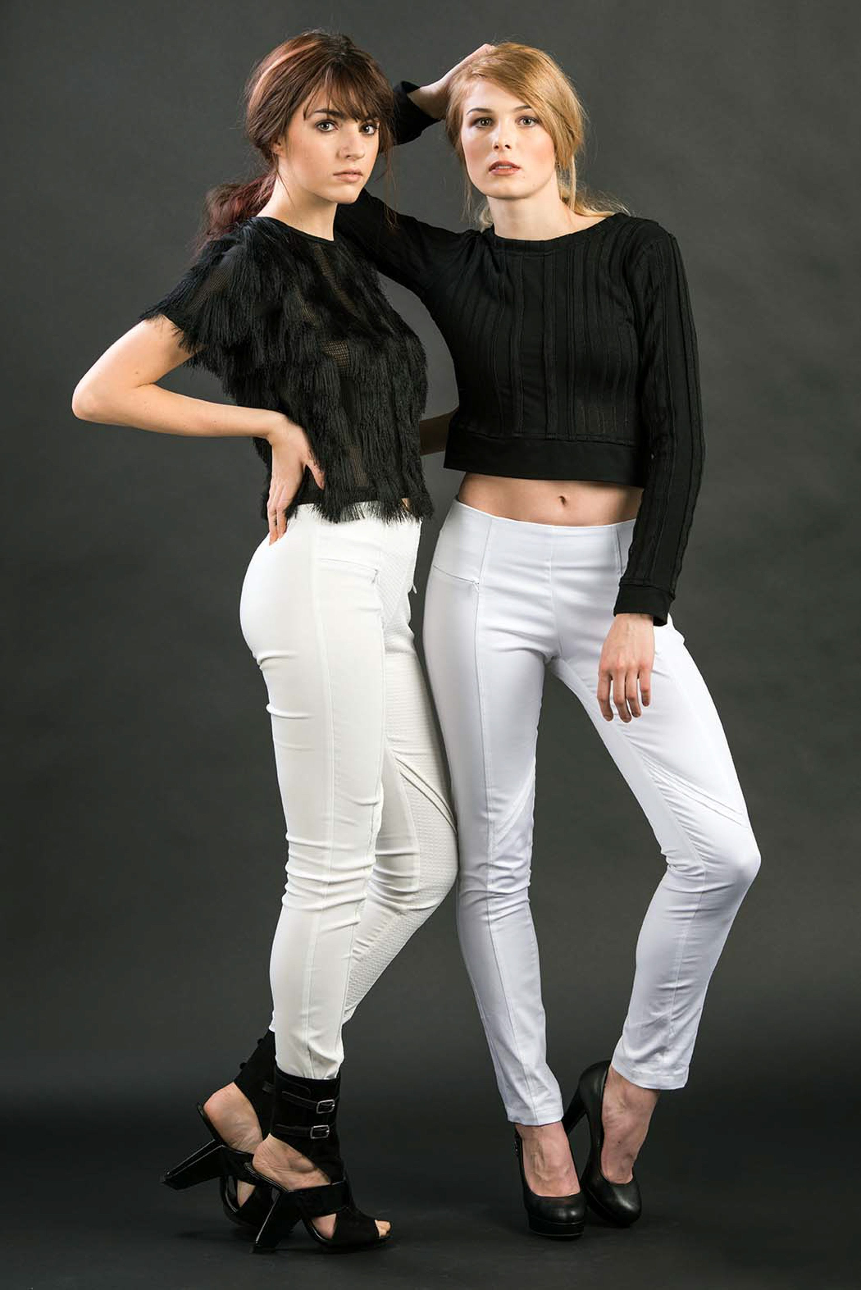 LALLI A/W 2015-Collection Dark top+ white pants selection