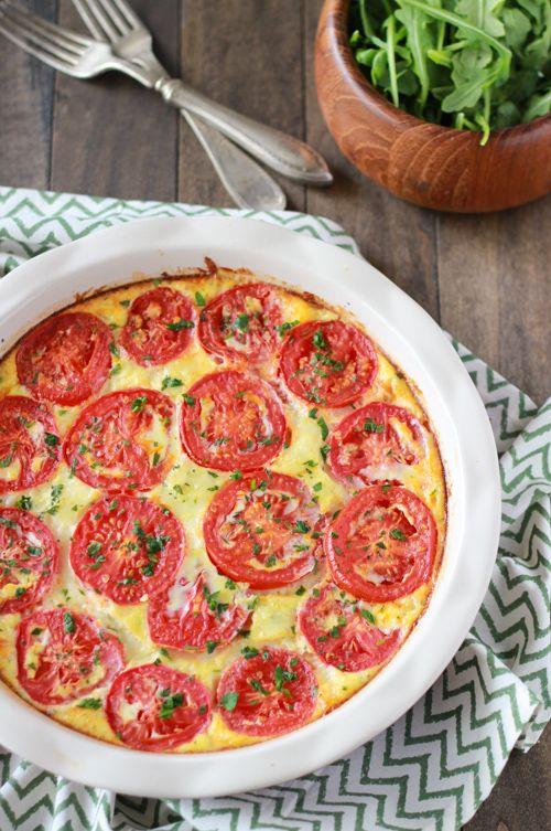 Zucchini and Tomato Frittata #tomato #zucchini #frittata