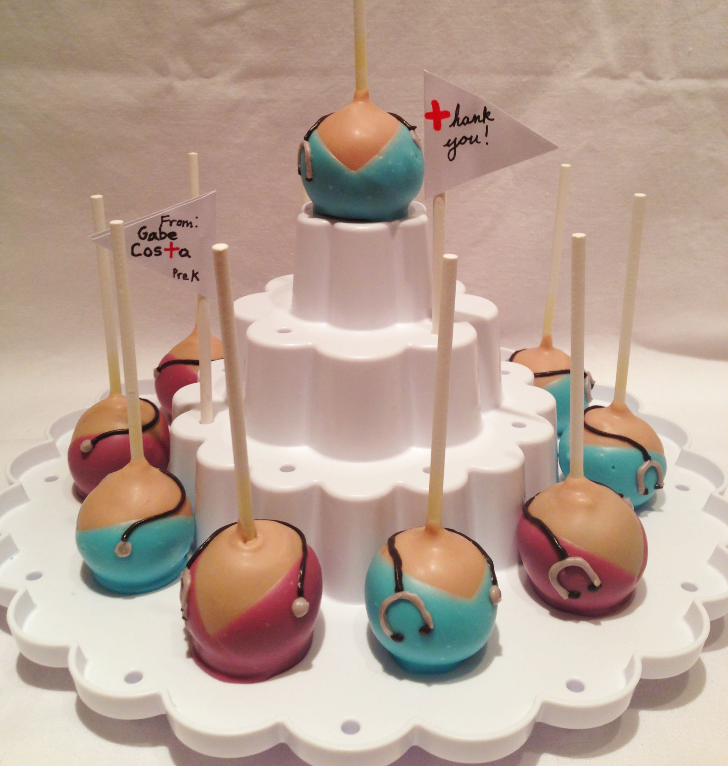 Nurse cake pops. Made by Painted and Sprinkled.