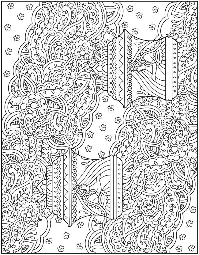 Mehndi Patterns Colouring In Sheets : Creative haven mehndi designs coloring book traditional