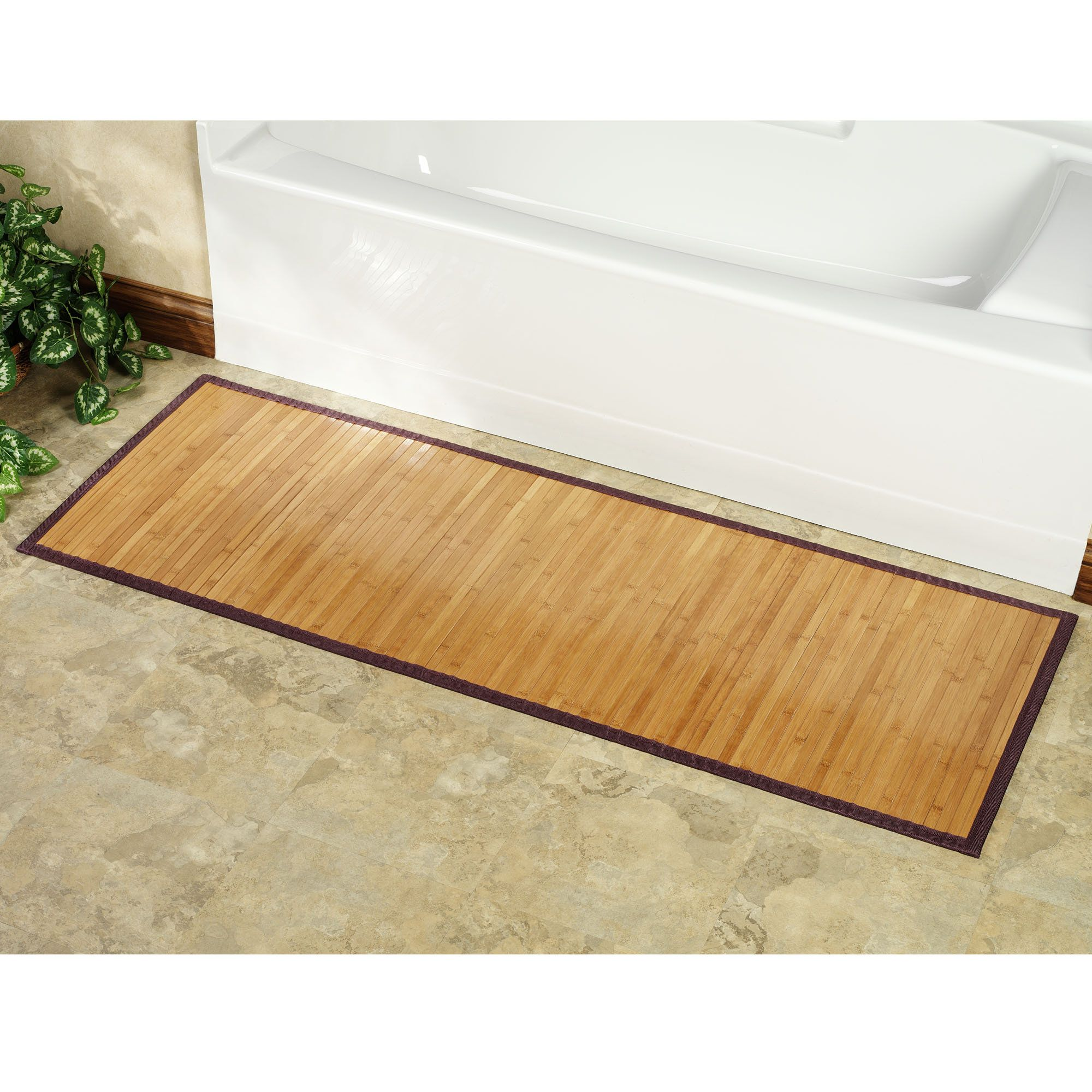 Statuette Of Bamboo Shower Mat The Point Pluses Bamboo Bathroom